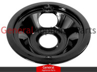 "ClimaTek 6"" Black Burner Drip Pan Bowl Replaces Frigidaire # 318067078 318067076 318067040 316222201"