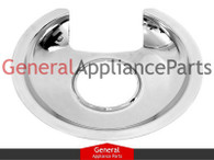 "ClimaTek Stove Range Cooktop 6"" Chrome Burner Drip Pan Replaces Bosch Thermador Gaggenau # 484634"