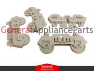 ClimaTek 4 Dishwasher Rack Wheels Replaces Whirlpool Kenmore Sears Roper # AP3139103 303991 3368577