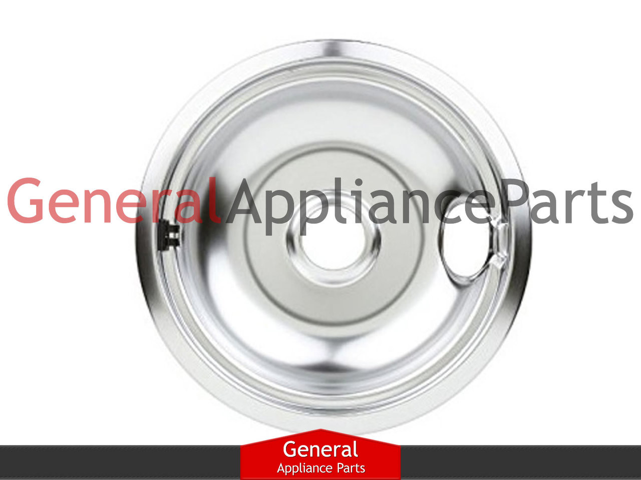 "4 Pack White Westinghouse Stove 8/"" Burner Chrome Drip Pan 5303935054"