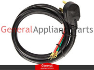 GE General Electric RCA 4 Prong Dryer Cord 6' Ft 40 Amp WX09X10014 WX09X0014