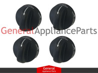 4x ClimaTek Stove Oven Range Power Burner Knobs Replaces Whirlpool Estate # 8273103 8273107 8273111