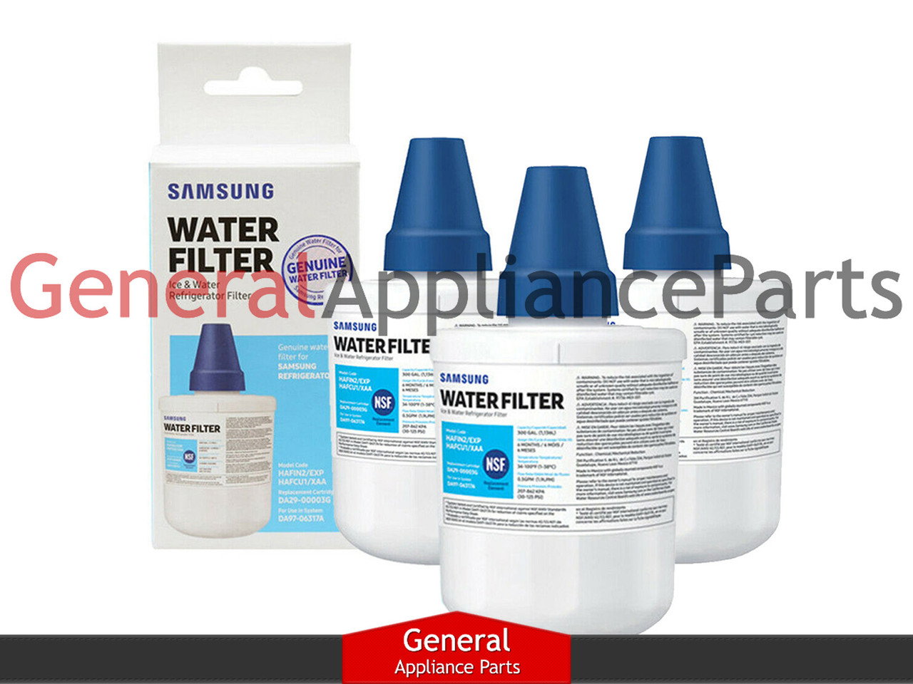3X Refrigerator Water Filter for Samsung RF268ABRS