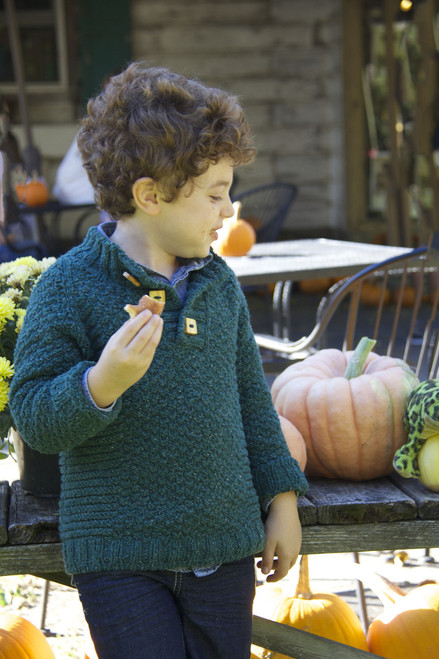 Wyatt Sweater by BrooklynTweed. Shown in a Size 6.