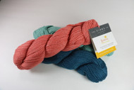 A classic DK wt blend of merino wool, cotton, linen, & silk
