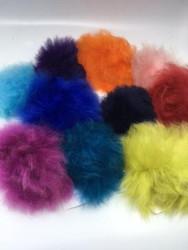 Dyed Alpaca Pompoms