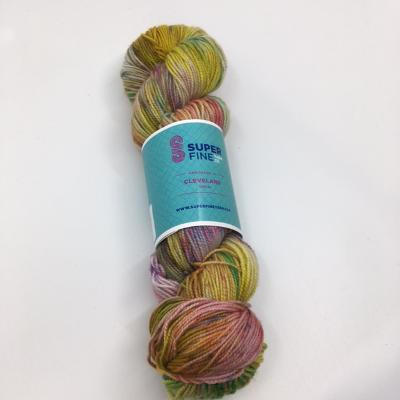 Sock yarn hand dyed in Cleveland
