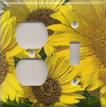 Sunflowers - Double Combo Outlet & Switch