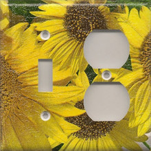 Sunflowers - Double Combo Switch & Outlet