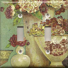 Antique Vases & Roses - Double Switch