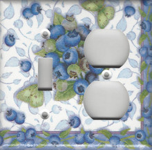 Blueberries & Butterflies - Double Combo Switch & Outlet