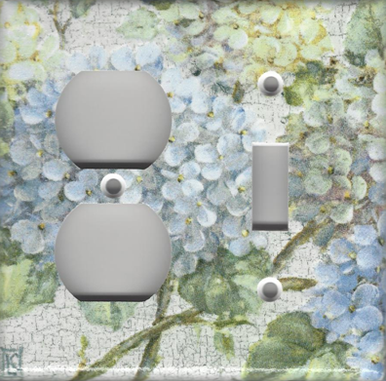 Hydrangea Branch - Double Combo Outlet & Switch
