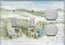 Adirondack Chairs on the Dunes - Triple Combo Switch & Switch & Outlet