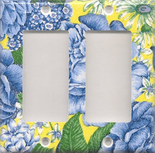 Blue & Yellow Flowers - Double GFI/Rocker