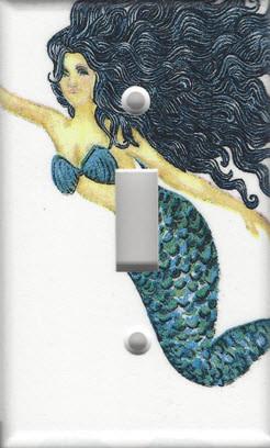 Mermaid - Black Haired - Single Switch