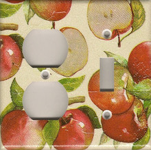 Apples - Double Combo Outlet & Switch