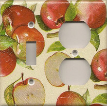 Apples - Double Combo Switch & Outlet