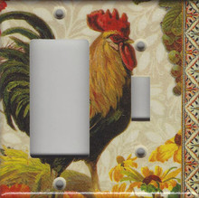 Fall Rooster Double Combo GFI/Rocker & Switch
