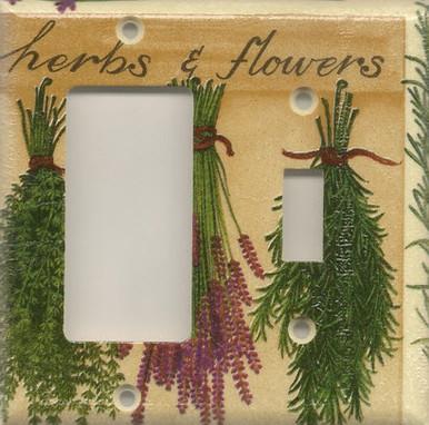 Herbs & Flowers Double Combo GFI/Rocker & Switch