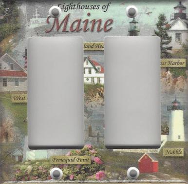 Lighthouses of Maine Double GFI/Rocker