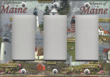 Lighthouses of Maine Triple GFI/Rocker