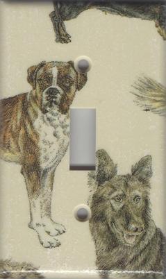 Dogs - Boxer, German Shepherd Single Switch