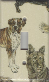 Dogs - Boxer, German Shepherd Single Switch