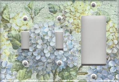 Hydrangea Branch - Triple Combo Switch Switch GFI/Rocker