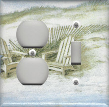 Adirondack Chairs on Dunes - Double Combo Outlet & Switch