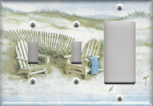 Adirondack Chairs on Dunes - Triple Combo Switch & Switch & GFI/Rocker