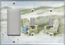 Adirondack Chairs on Dunes - Triple Combo GFI & Switch & Switch