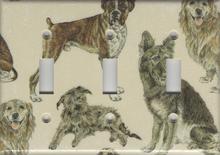 Dogs - Boxer, German Shepherd, Benji - Triple Switch