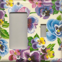 Lots of Pansies - Double Combo GFI & Switch