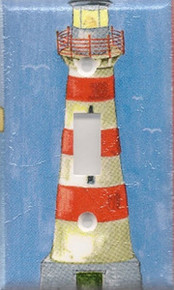 Red & White Lighthouse - Single Switch