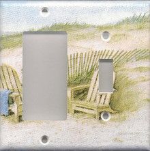 Adirondack Chairs on Dunes - Double Combo GFI & Switch