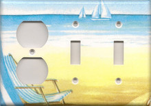 Beach Chair - Triple Combo Outlet & Switch & Switch