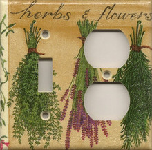 Herbs & Flowers - Double Combo Switch & Outlet