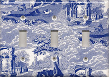 Blue Toile - Triple Switch