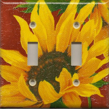 Sunflowers - Red - Double Switch