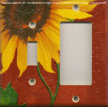 Sunflowers - Red - Double Combo Switch & GFI