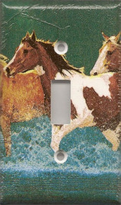 Horses Running in Water - Single Switch