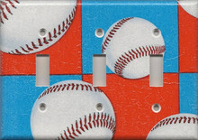 Baseball - Red, White & Blue - Triple Switch