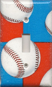 Baseball - Red, White & Blue - Single Switch