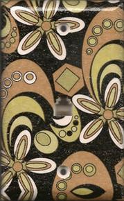 Patterned Black, Copper, & Gold Phone Jack