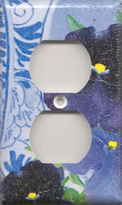 Purple Pansies with Plate - Outlet