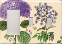 Purple Hydrangea - Triple Combo GFI & Switch & Switch