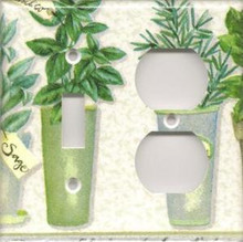 Herbs - Double Combo Switch & Outlet