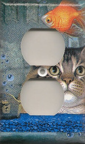 Cat with Fish Bowl - Outlet
