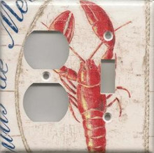 Lobster - White - Double Combo Outlet & Switch