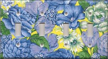 Blue & Yellow Flowers - Quadruple Switch